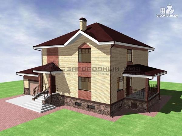 Фото 5: проект двухэтажный дом кирпича с гаражом