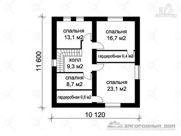 Фото 3: проект двухэтажный дом кирпича с гаражом