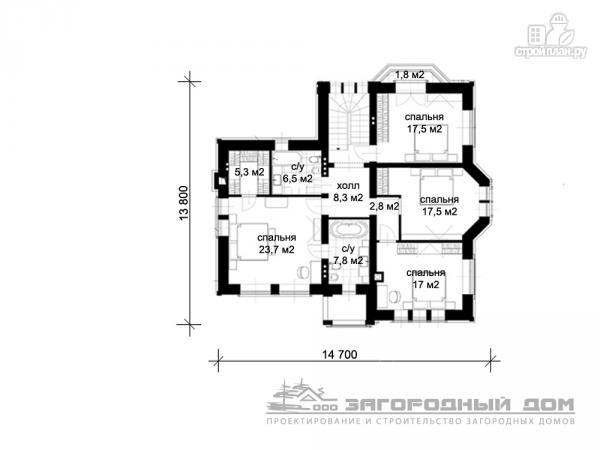 Фото 3: проект кирпичный дом с большой террасой и навесом для двух машин