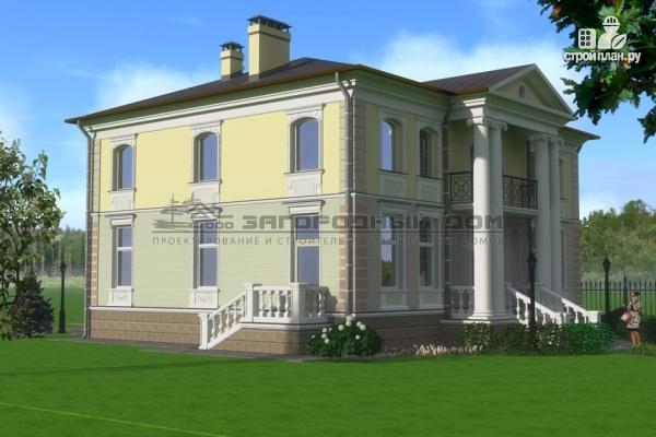 Фото 5: проект дом в стиле ренессанс, с колоннами и балконами