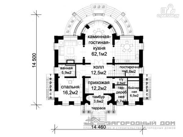 Фото 2: проект дом в стиле ренессанс, с колоннами и балконами