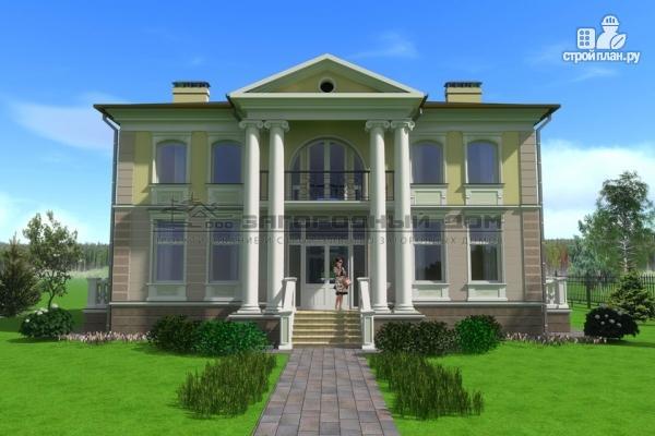 Фото 4: проект дом в стиле ренессанс, с колоннами и балконами