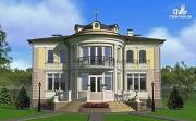 Проект дом в стиле ренессанс, с колоннами и балконами