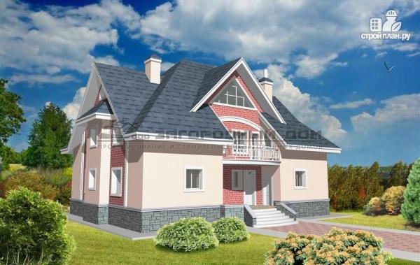 Фото: проект кирпичный дом с каминным и бильярдным залом