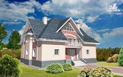 Фото: кирпичный дом с каминным и бильярдным залом