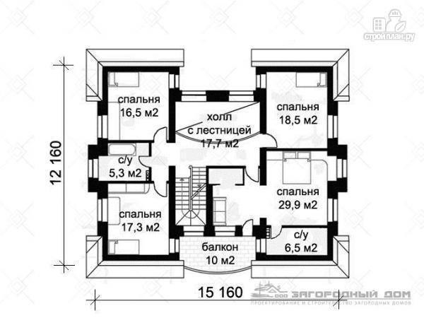 Фото 3: проект кирпичный дом с каминным и бильярдным залом