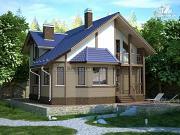 Фото: дом из блоков со вторым светом в гостиной