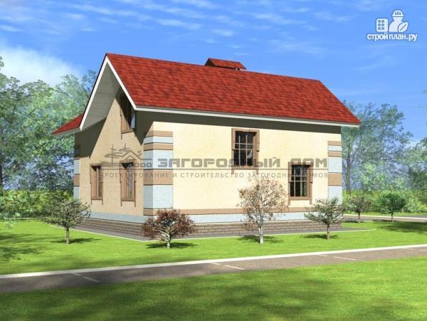 Фото 4: проект дом из блоков с мансардой и террасой