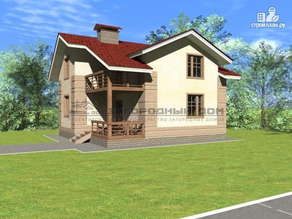 Фото 5: проект дом из блоков с парами балконов и террас