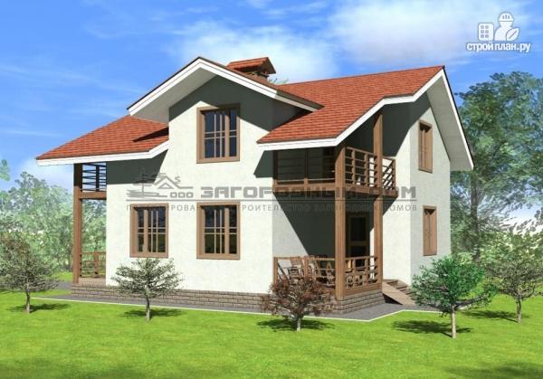 Фото: проект каменный дом классического стиля с каминным залом