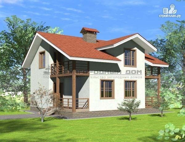 Фото 4: проект каменный дом классического стиля с каминным залом