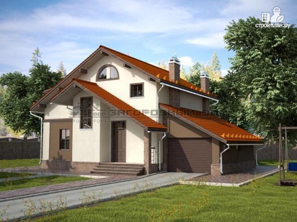 Фото: проект дом из пеноблоков с пристроенными гаражом и топочной