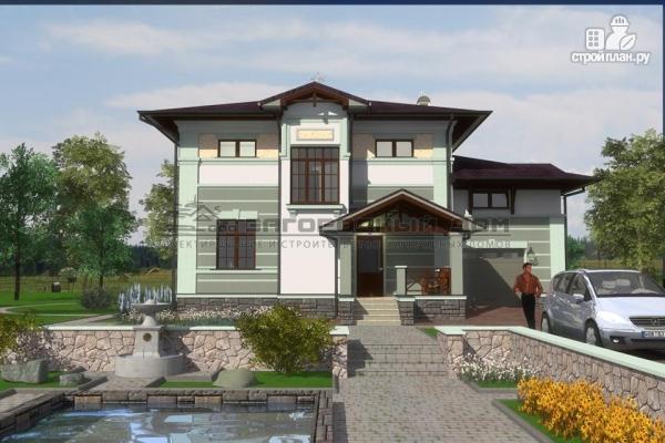 Фото 6: проект двухэтажный дом из газосиликатных блоков с террасой и гаражом