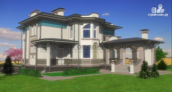 Фото 7: проект дом с террасой-барбекю и гаражом