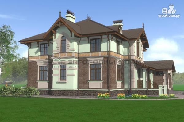 Фото 7: проект дом из газосиликатных блоков с балконом, террасой и гаражом