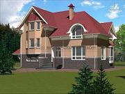 Проект загородный дом для большой семьи со встроенным гаражом