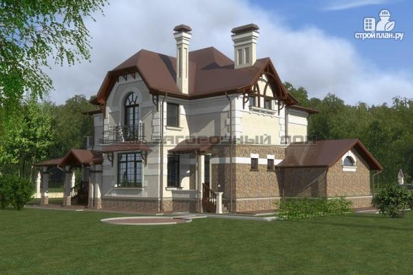 Фото 9: проект дом с балконом, террасой и гаражом