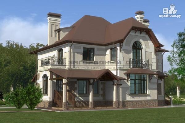 Фото 8: проект дом с балконом, террасой и гаражом