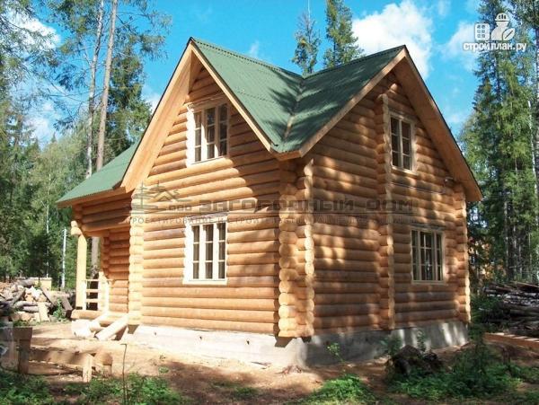 Фото: проект дом 7х7 из бревна для сезонного проживания