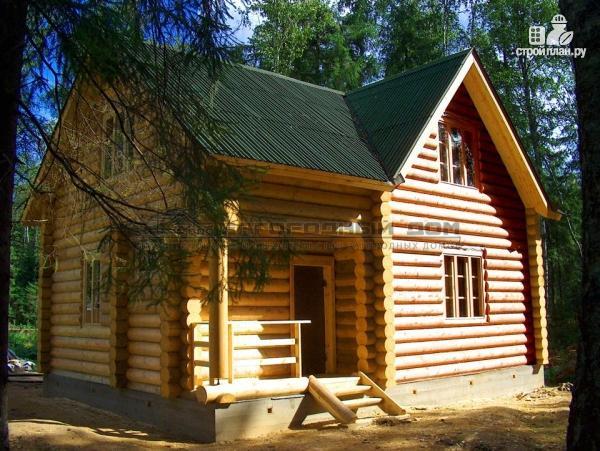 Фото 4: проект дом 7х7 из бревна для сезонного проживания