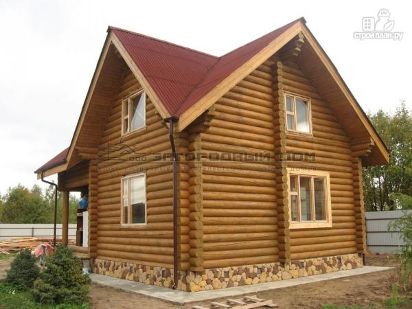 Фото 6: проект дом 7х7 из бревна для сезонного проживания