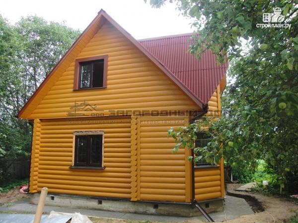 Фото 4: проект деревянный дом с верандой в эркере и лоджией