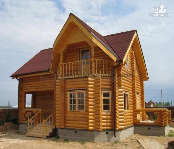 Фото: проект бревенчатый дом 7х10 с крыльцом