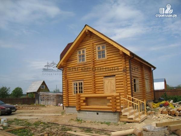 Фото 4: проект бревенчатый дом 7х10 с крыльцом