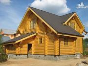 Фото: деревянный дом из бревна с котельной