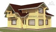 Проект дом из оцилиндрованного бревна с навесом для машины