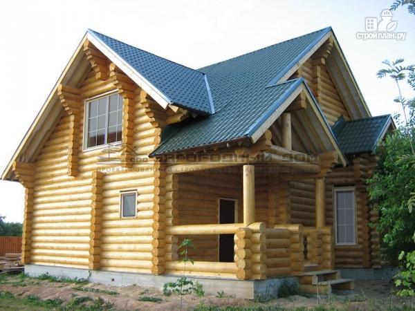Фото 7: проект деревянный дом с балконом, террасой и вторым светом в гостиной