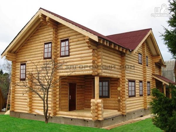 Фото: проект бревенчатый дом с камином и печью