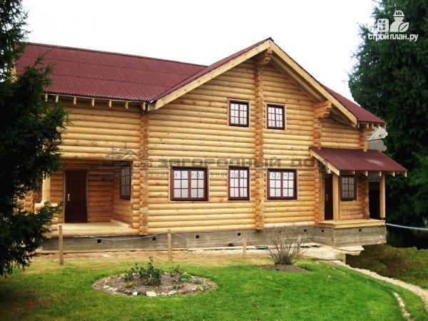 Фото 4: проект бревенчатый дом с камином и печью