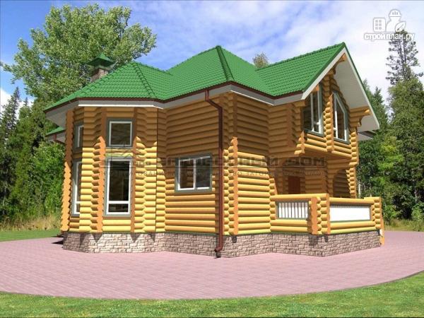 Фото 5: проект деревянный дом оцилиндровка