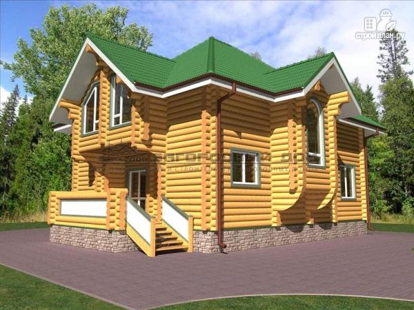 Фото: проект деревянный дом оцилиндровка