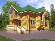 Фото: деревянный дом оцилиндровка