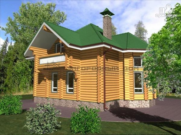 Фото 4: проект деревянный дом оцилиндровка