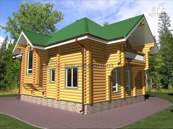 Фото 6: проект деревянный дом оцилиндровка