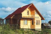 Фото: дом из бруса с эркером
