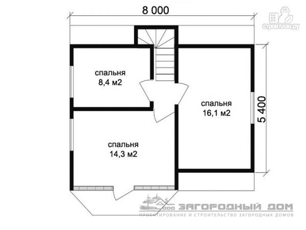Фото 3: проект дом из бруса 8х8