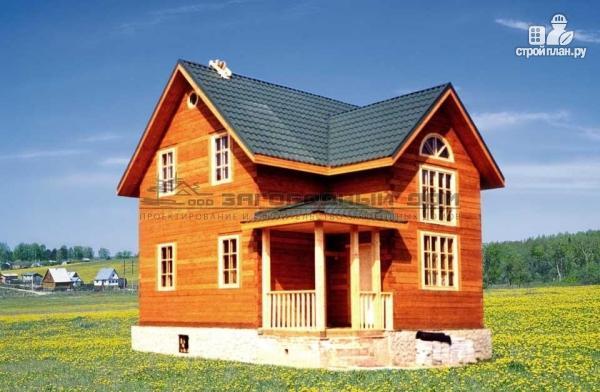 Фото: проект дом из бруса с крыльцом