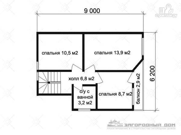 Фото 3: проект брусовой дом с эркером и террасой с навесом