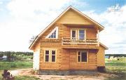 Проект загородный деревянный дом 8х10