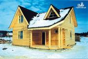 Фото: загородный дом 8х9 с классической компоновкой