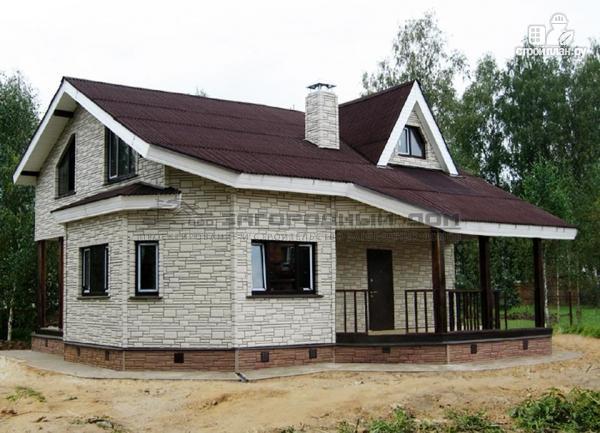 Фото 4: проект загородный дом с парной и гостиной в два света