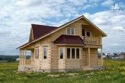 Фото: загородный дом с парной и гостиной в два света