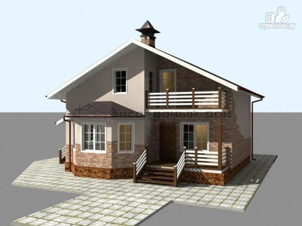 Фото 4: проект деревянный дом из бруса с террасами