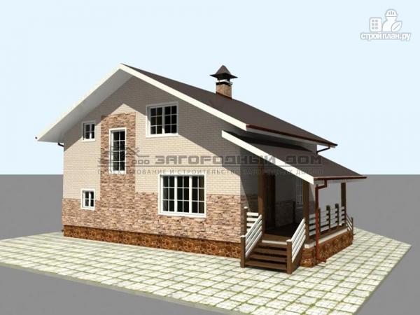 Фото 5: проект деревянный дом из бруса с террасами