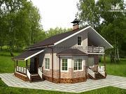 Проект деревянный дом из бруса с террасами
