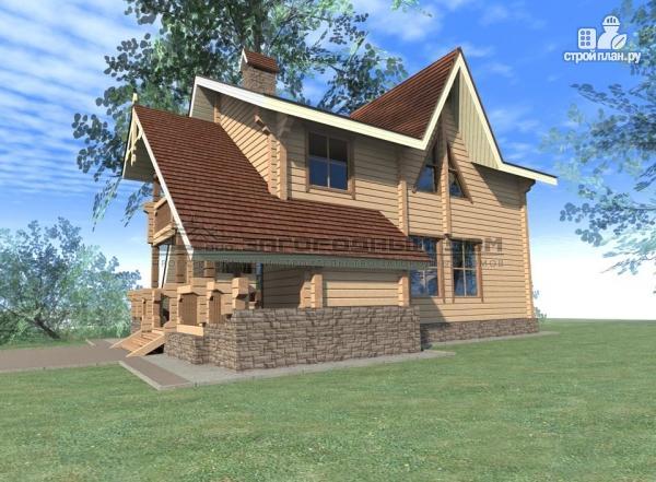Фото 5: проект брусовой дом с балконом